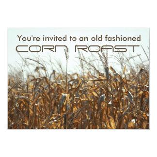 Carne asada del maíz, campo de la invitación del