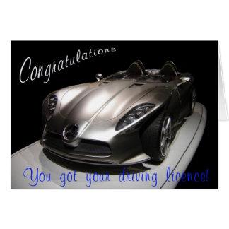 Carné de conducir pasajero tarjeta de felicitación