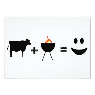Carne de vaca del Bbq feliz Invitación 12,7 X 17,8 Cm