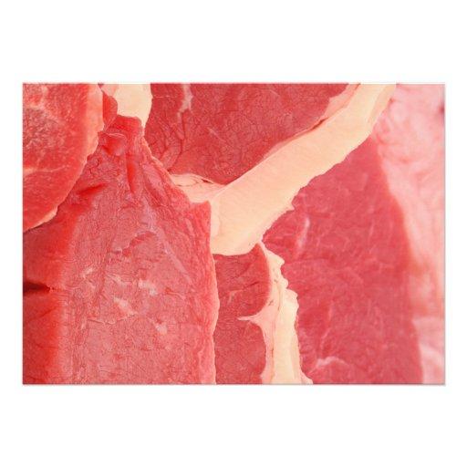 Carne de vaca invitación personalizada