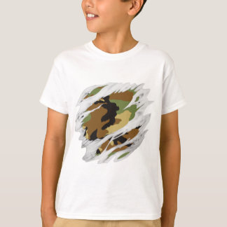 Carne rasgada Camo Camiseta