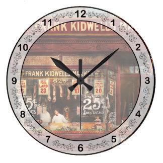 Carnicero - la carne valoró a la derecha 1916 reloj redondo grande