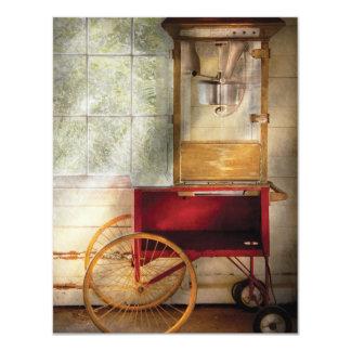 Carnie - el carro de las palomitas invitación 10,8 x 13,9 cm