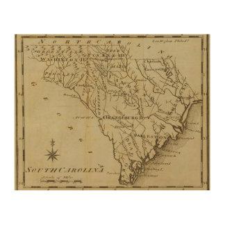 Carolina del Norte 8 Impresión En Madera
