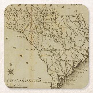 Carolina del Norte 8 Posavasos De Papel Cuadrado