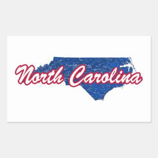Carolina del Norte Pegatina Rectangular