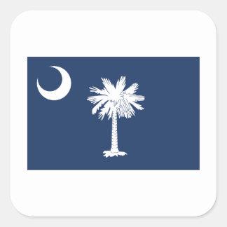 Carolina del Sur Pegatina Cuadrada