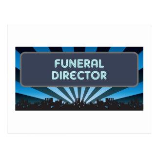 Carpa del director de funeraria tarjeta postal