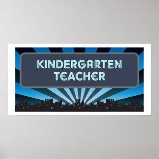 Carpa del maestro de jardín de infancia poster
