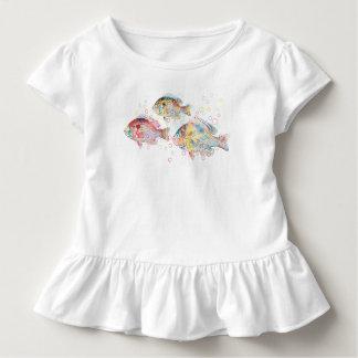 Carpas coloridas camiseta de bebé