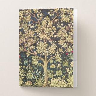 Carpeta Con Bolsillos Árbol de William Morris del Pre-Raphaelite del