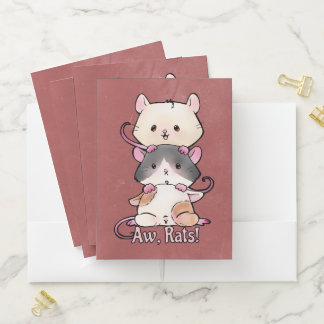 Carpeta Con Bolsillos ¡Aw, ratas!
