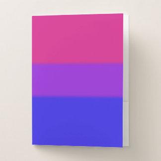 Carpeta Con Bolsillos Bandera bisexual del orgullo de Falln