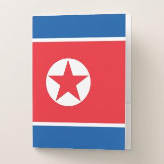 Carpeta Con Bolsillos Bandera de Corea del Norte