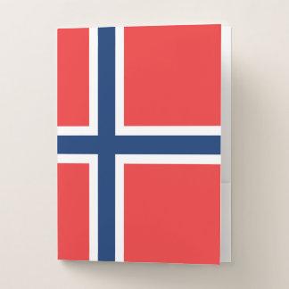 Carpeta Con Bolsillos Bandera de Noruega