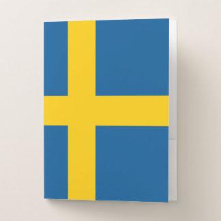 Carpeta Con Bolsillos Bandera de Suecia