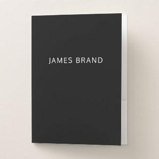 Carpeta Con Bolsillos Blanco y negro profesional