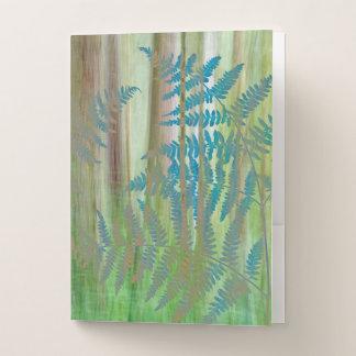 Carpeta Con Bolsillos Collage de los helechos y del bosque el | Seabeck,