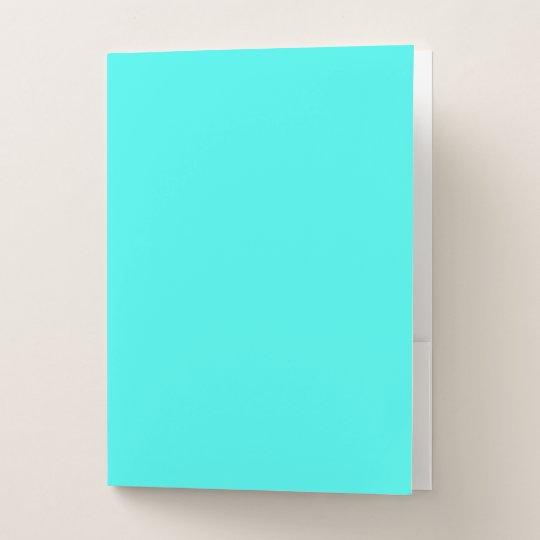 9416ffbf974b Carpeta Con Bolsillos Color azul de la turquesa de la aguamarina