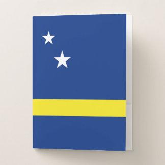 Carpeta Con Bolsillos Curaçao señala por medio de una bandera