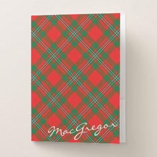 Carpeta Con Bolsillos El escocés efectúa el tartán de MacGregor del clan