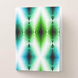 Carpeta Con Bolsillos El verde azul brillante extranjero del haz