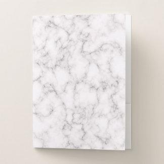 Carpeta Con Bolsillos Estilo de mármol elegante