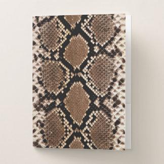 Carpeta Con Bolsillos Falso modelo exótico de la piel de serpiente
