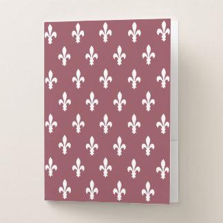 Carpeta Con Bolsillos Flor de lis color de rosa oscura del Victorian