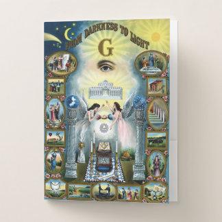 Carpeta Con Bolsillos Freemasonry antiguo Hazen masónico del arte