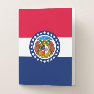 Carpeta Con Bolsillos Gráfico dinámico de la bandera del estado de