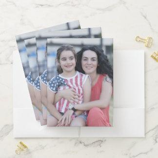Carpeta Con Bolsillos Haga su propia foto personalizada