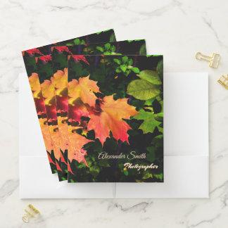 Carpeta Con Bolsillos Hojas de otoño