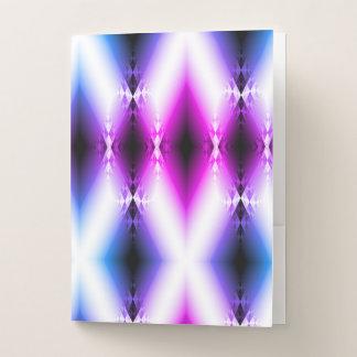 Carpeta Con Bolsillos La púrpura rosada brillante del haz extranjero
