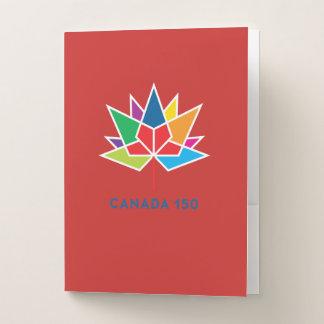 Carpeta Con Bolsillos Logotipo del funcionario de Canadá 150 -