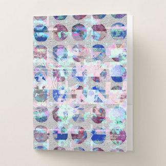 Carpeta Con Bolsillos Lunares abstractos púrpuras y azules del confeti
