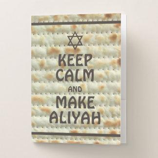 Carpeta Con Bolsillos Mantenga tranquilo y haga Aliyah - Matzah