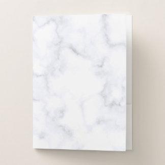 Carpeta Con Bolsillos Mármol blanco