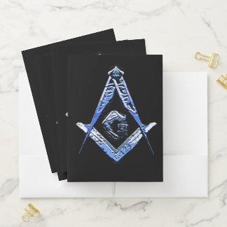 Carpeta Con Bolsillos Mentes masónicas (azules)