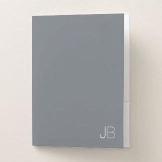 Carpeta Con Bolsillos Monograma minimalista elegante