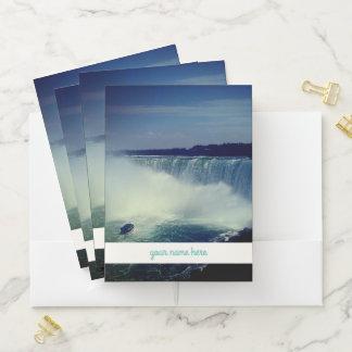 """Carpeta Con Bolsillos Niagara Falls y '' su nombre aquí """""""