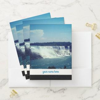 """Carpeta Con Bolsillos Niagara Falls y """"su nombre aquí """""""