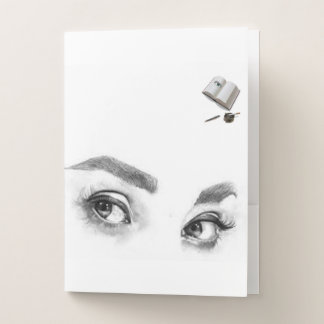 Carpeta Con Bolsillos ojos para usted