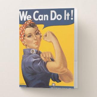 Carpeta Con Bolsillos Rosie el remachador podemos hacerlo las mujeres de