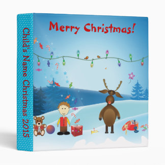 Carpeta de anillo del niño del navidad carpeta 2,5 cm