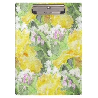 Carpeta De Pinza Acuarela alta amarilla del iris barbudo