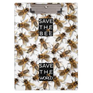 Carpeta De Pinza ¡Ahorre la abeja! ¡Ahorre el mundo! Abeja