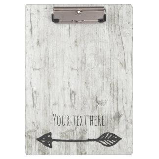 Carpeta De Pinza Añada su madera del texto con la flecha