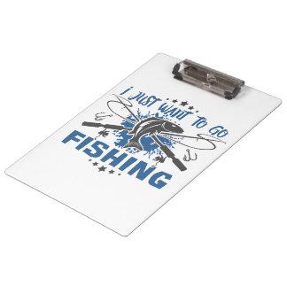 Carpeta De Pinza Apenas quiero ir a pescar