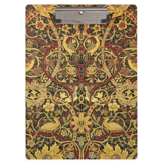 Carpeta De Pinza Arte floral de la tapicería de William Morris